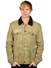 ANALOG WHEEL WASH DIRTY KHAKI GREEN JEAN JACKET COAT MEN'S GUYS NEW $125