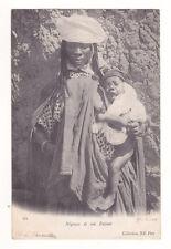 CPA ALGERIE Négresse et son enfant  1904