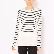 Women's BCBG MAX AZRIA Morgin Fashion Striped Sweater Long sleeve Top Shirt