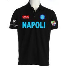 POLO NAPOLI CHAMPIONS LEAGUE t-shirt maglietta HIGUAIN HAMSIK LAVEZZI felpa NERA