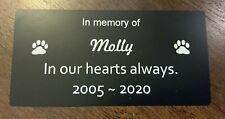 Pet Memorial Plaque personalised (Durablack)