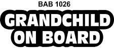 GRANDCHILD ON BOARD