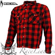 Richa Espalda Lumberjack Rojo Aramida MOTO Camisa Chaqueta