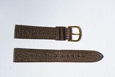 bracelet montre requin véritable marron doublé cuir véritable plat 18mm
