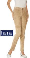 Nouveau: mince SlimFit velour daim pantalon cuir 36 38 40 42 44 46 Heine * 142987