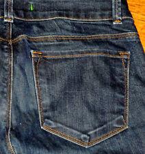 J Brand Entallado bajo de Campana Bota Pierna Mujer Azul Oscuro Jeans Negros