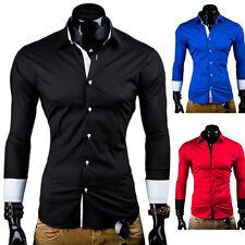 Behype camisa slim fit contraste Polo Shirt negro/blanco/azul/rojo Clubwear nuevo