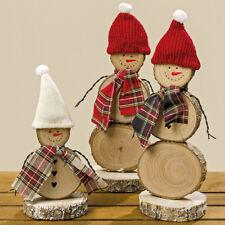 Schneemann Holz mit Schal + Mütze (834810) Weihnachtsdeko