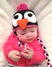 CROCHET GIRL PENGUIN BABY HAT infant toddler child adult beanie cap photo prop