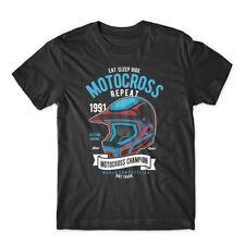 Motocross Champion Helmet T-Shirt 100% Cotton Premium Tee NEW