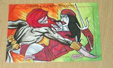 Marvel Dangerous Divas sketch PUZZLE Tom Kelly BLACK WIDOW ELEKTRA