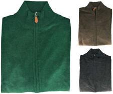 Maglione Uomo Cashmere Seta Full Zip Men Sweater Made in Italy