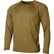 MFH US Undershirt Level I Gen III Base Layer ECWCS Mens Long Sleeve Coyote Tan