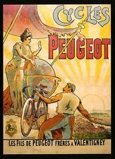 Bike Fashion Lady Globe World Peugeot Light Bicycle Vintage Poster Repro FREE SH