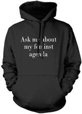 Ask Me About My Feminist Agenda - Feminism Girl Power Unisex Hoodie