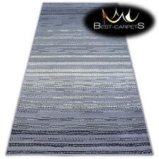 "MODERN DESIGNS & CHEAP BCF RUGS grey STRIPES ""BASE""  4 SIZE Best-Carpets"