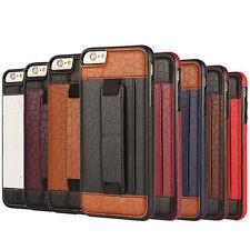 Pellicola+Custodia cover LUXURY CROCO p iPhone 6 6S case stand ecopelle maniglia