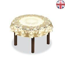 "Tablecloth round cream/dark gold lace Ø100 (39""), Ø120 (47"") or Ø150 (59"")"