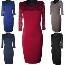 Damen Kleid Cocktailkleid Abendkleid Spitze Große Größen XXL 46,48,50,52,54 Kar