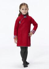 100% Fait Main Robe d'Hiver Fille Qipao Cheongsam en Laine Mode Enfant #209