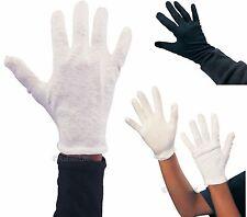 100% Cotton Ladies Mens Kids children White Black Captain Clown Magician Gloves