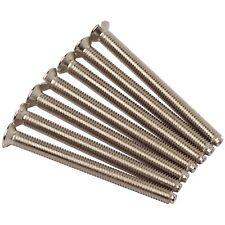 40MM X 3.5MM SOCKET LIGHT SWITCH FLAT HEAD CHROME SCREWS FOR FLAT PLATE