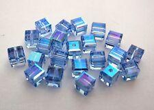 3 4mm Swarovski 5601 Crystal Beads:Lt Sapphire ABB(Please read item description)