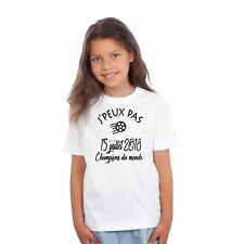 T-shirt ENFANT J'PEUX PAS CHAMPIONS DU MONDE COUPE DU MONDE 2018 ÉQUIPE DE FRANC