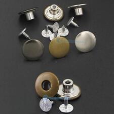 "17mm 5/8"" Jean Tack NO-SEW Button Snap Stud Rivet Look Inside Fine 20 50 100"