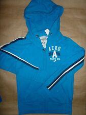 New Aeropostale 87 Hoodie Sweatshirt  Zip-up Jacket Sweater Blue Men Boy S