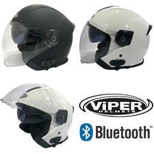 Viper RS-v10 Bluetooth Intercom Open Face Jet Motorcycle Bike Scooter Helmet