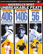 DVD Baseballs Most Unbreakable Feats MLB Batting Average Stolen Bases NEW