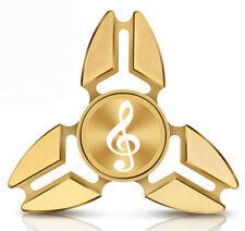 Fidget Spinner Tri-Spinner Aluminum Metal Music Treble Clef