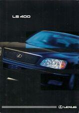 Lexus LS 400 1997-98 UK Market Foldout Sales Brochure