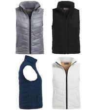 Womens Padded Gilet Jacket Ladies Lined Bodywarmer Waistcoat Size 6 8 10 12 14