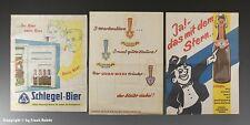 3 x Einwickelpapier SCHLEGEL + STERN BIER um 1955