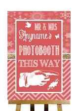 Rojo Invierno Navidad Photobooth este modo derecho Personalizado Boda Signo