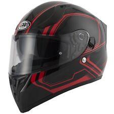VCAN V128 Tracer Motorrad Integral Sonnenblende belüftet leicht Helm - rot