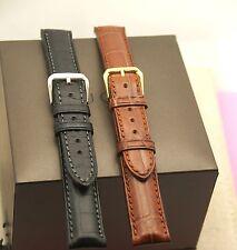 New Gucci 17 MM Genuine Crocodile Watch Band - Black or Brown - Reg - (17.130GC)