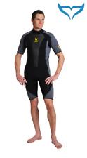 Poseidon Wetsuit Journey Shorty XS S 2XL 3XL 3mm schwarz grau Neopren male Herre