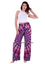 Peacock Mandala Casual Wear Yoga Pant Hippie Cotton Indian Women's Pant Trouser