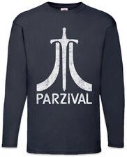 Parzival Herren Langarm T-Shirt Parcival Ready Fun Gamer Player One Games Gaming