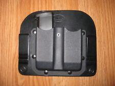 IWB Hybrid adjustable retention Kydex/Leather Double Magazine Carrier