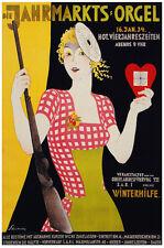 German Vintage Decoration & Design Poster.Rifle Girl.Gun Shop art Decor902i