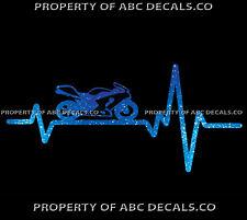 VRS HEART BEAT LINE BIKE MOTORCYCLE sportbike sport Speed Custom CAR METAL DECAL