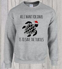 Christmas Save The Turtles VSCO Girl Sweater Jumper