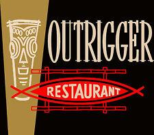 Billingsley's Outrigger Tiki Bar Restaurant Laguna Beach Logo Matchbook T-Shirt