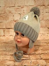 Wintermütze Jungenmütze Kindermütze Mütze Bommelmütze Jungen neu Größe 42-44