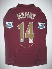 Highbury 2005 2006 Arsenal Nike Long Sleeve Thierry Henry Jersey France Shirt