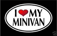 "5.75"" I LOVE MY MINIVAN vinyl decal sticker...van car"